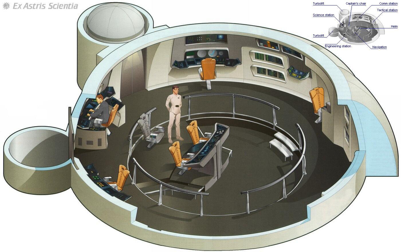 Ex Astris Scientia Galleries Starfleet Bridge Illustrations Star Trek Engineering Schematics Constitution Class Refit Uss Enterprise 2271