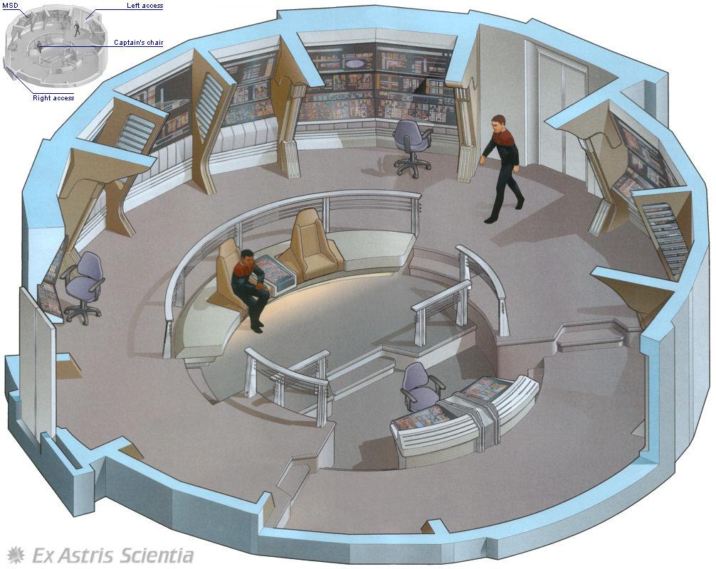 Ex Astris Scientia - Galleries - Starfleet Bridge Illustrations