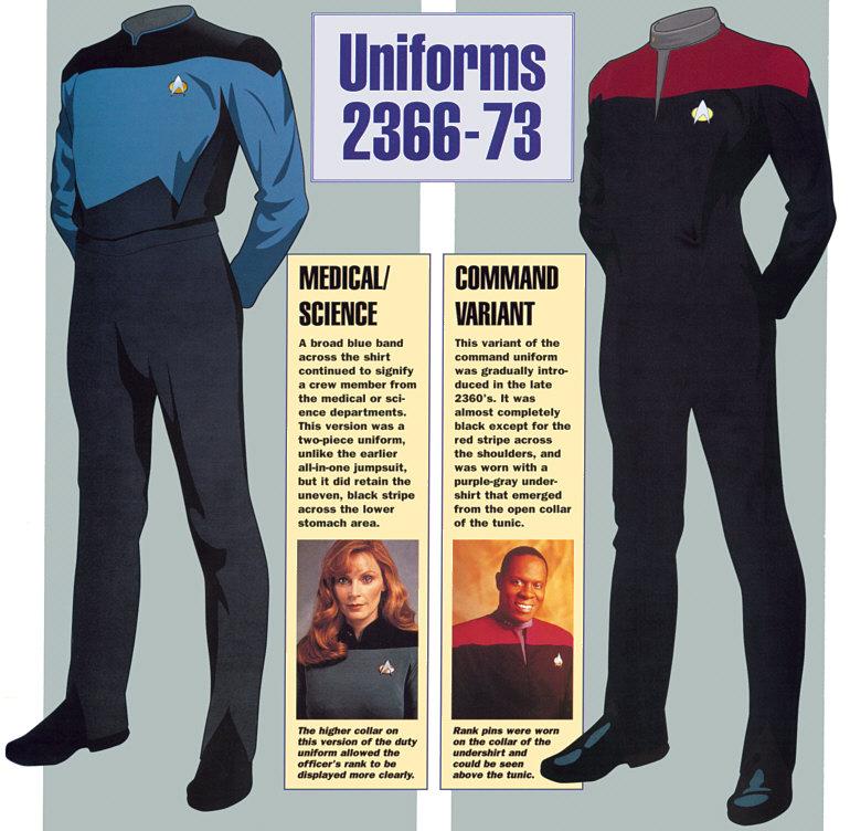 Star Trek TNG Uniform Blue Starfleet Science Uniform Red Shirt Gold Uniform New