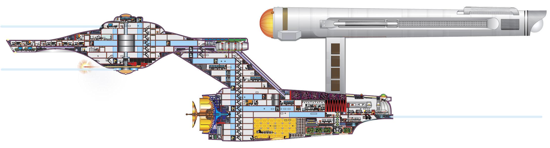 """Новая модель Конституции была построена Грегом Джейном (Greg Jein) для сериала  """"Звёздный путь: Глубокий космос 9 """"..."""